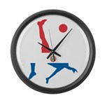 Paraguay Soccer Large Wall Clock