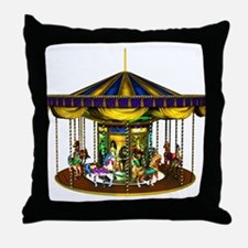 The Golden Carousel Throw Pillow