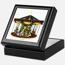 The Golden Carousel Keepsake Box