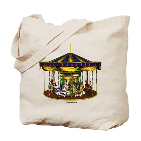 The Golden Carousel Tote Bag