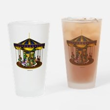 The Golden Carousel Drinking Glass