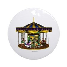 The Golden Carousel Ornament (Round)