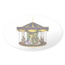 The Golden Carousel Sticker (Oval)