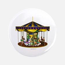 """The Golden Carousel 3.5"""" Button"""