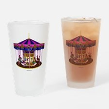 The Pink Carousel Drinking Glass