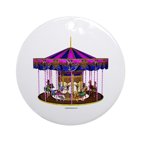The Pink Carousel Ornament (Round)