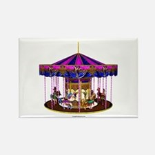 The Pink Carousel Rectangle Magnet
