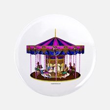 "The Pink Carousel 3.5"" Button"