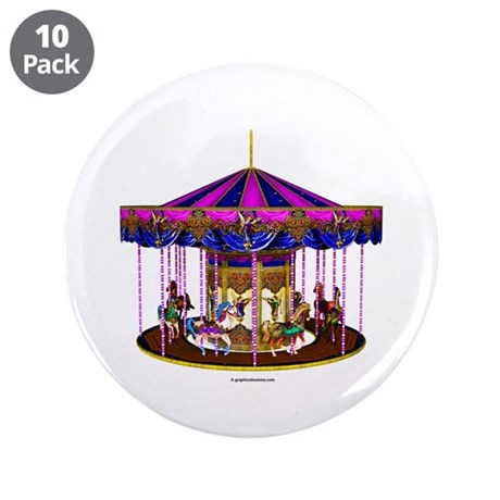 """The Pink Carousel 3.5"""" Button (10 pack)"""