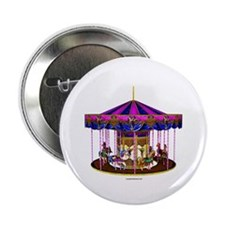"The Pink Carousel 2.25"" Button"