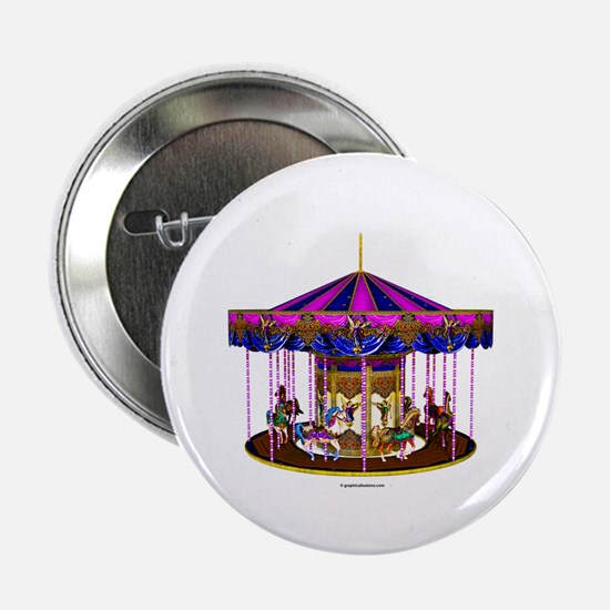 """The Pink Carousel 2.25"""" Button (10 pack)"""