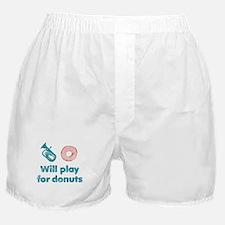 Will Play Baritone for Donuts Boxer Shorts