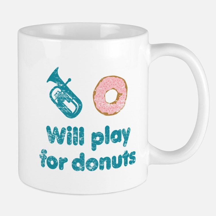Will Play Baritone for Donuts Small Small Mug