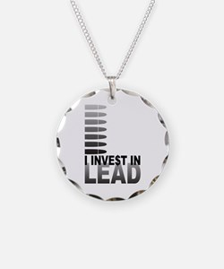 I Invest In Lead Necklace Circle Charm