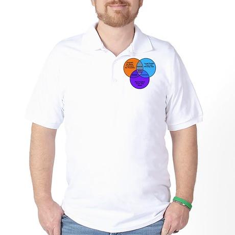 Jesus Zombie Dracula Frankens Golf Shirt