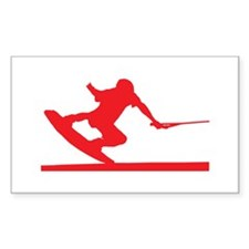 Red Wakeboard Nose Press Decal