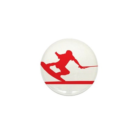 Red Wakeboard Nose Press Mini Button (100 pack)