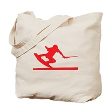 Red Wakeboard Nose Press Tote Bag