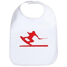 Red Wakeboard Nose Press Bib