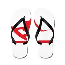 Red Wakeboard Nose Press Flip Flops