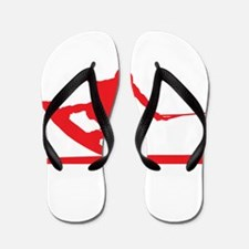 Red Wakeboard Nose Press Flip Flops