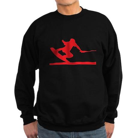 Red Wakeboard Nose Press Sweatshirt (dark)