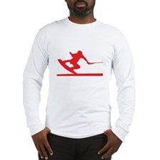 Red Wakeboard Nose Press Long Sleeve T-Shirt