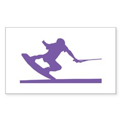 Purple Wakeboard Nose Press Decal