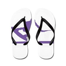 Purple Wakeboard Nose Press Flip Flops