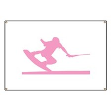 Pink Wakeboard Nose Press Banner