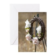 Rose Wreath Greeting Cards (Pk of 20)