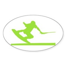 Green Wakeboard Nose Press Decal
