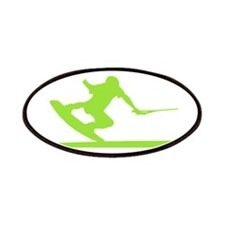 Green Wakeboard Nose Press Patches