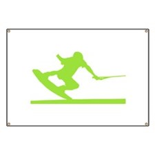 Green Wakeboard Nose Press Banner