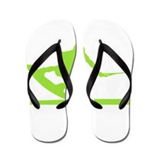Green Wakeboard Nose Press Flip Flops