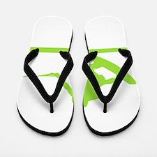 Green Wakeboard Nose Press Flip Flops
