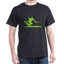 Green Wakeboard Nose Press T-Shirt