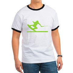 Green Wakeboard Nose Press T