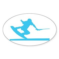 Blue Wakeboard Nose Press Decal