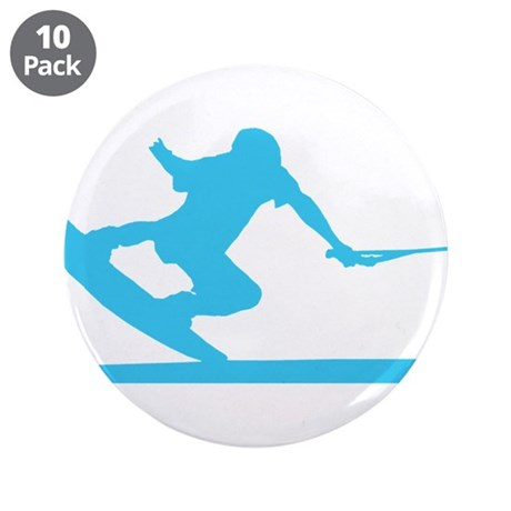 """Blue Wakeboard Nose Press 3.5"""" Button (10 pack)"""
