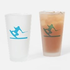 Blue Wakeboard Nose Press Drinking Glass