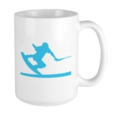 Blue Wakeboard Nose Press Mug
