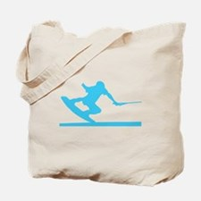 Blue Wakeboard Nose Press Tote Bag