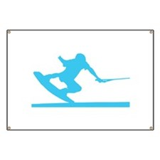 Blue Wakeboard Nose Press Banner