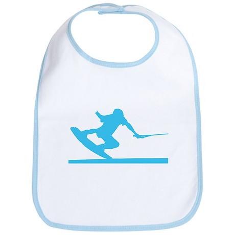 Blue Wakeboard Nose Press Bib
