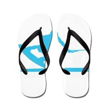 Blue Wakeboard Nose Press Flip Flops