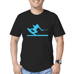 Blue Wakeboard Nose Press Men's Fitted T-Shirt (da