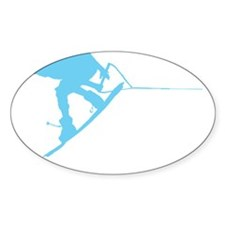 Blue Wakeboard Back Spin Decal
