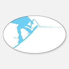 Blue Wakeboard Back Spin Sticker (Oval)