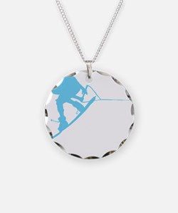 Blue Wakeboard Back Spin Necklace